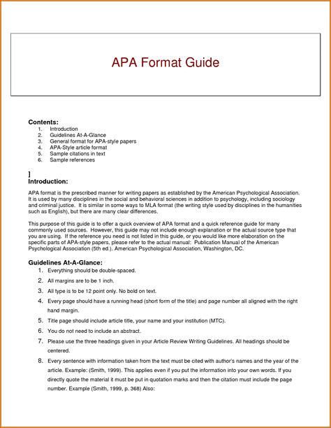 Apa Format Template 5 Images In Apa Format Lease Template