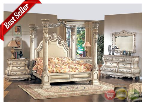 caledonian victorian inspired canopy bedroom set antique whitefree shipping