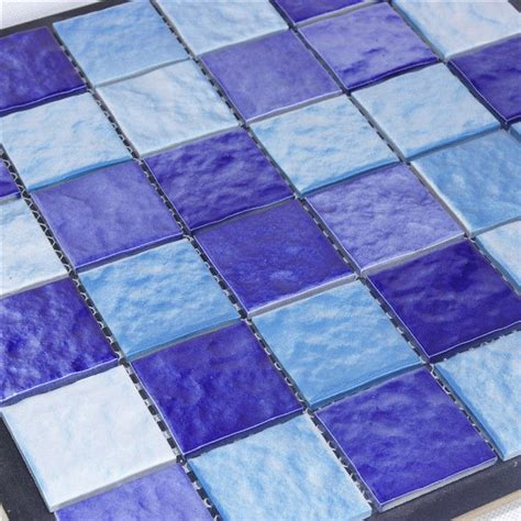 wholesale pool tiles blue mosaic ceramic and cheap