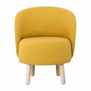 Pouf Jaune Moutarde : bold fauteuils fauteuil jaune moutarde tissu habitat ~ Teatrodelosmanantiales.com Idées de Décoration