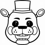 Freddy Coloring Pages Toy Draw Fazbear Colouring Easy Nights Five Golden Freddie Step Freddys Mangle Fnaf Chica Characters Drawing Bonnie sketch template