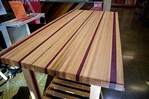 A 170-Pound Purple Heart & Red Oak Table by Doug Johnson
