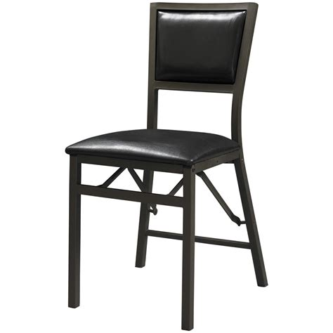 2 pk of linon arista padded back folding chairs 609775