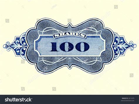 Stock Certificate Symbol Indicating Number Of Shares