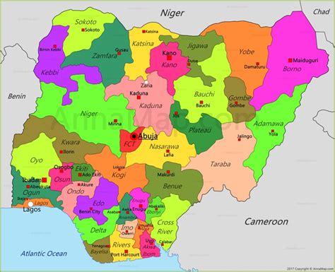Nigeria Map   Map of Nigeria - AnnaMap.com