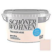 Schöner Wohnen Poudre by Sch 246 Ner Wohnen Wandfarbe Trendfarbe Poudre 2 5 L