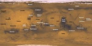 Mars Planet Map - Pics about space