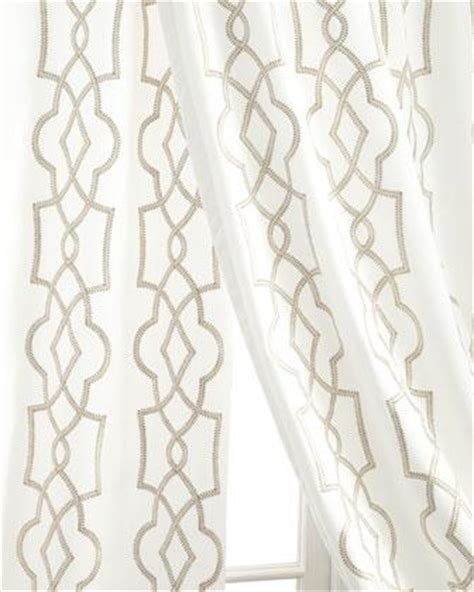Geometric Pattern Window Curtains by Silver Tipton Curtains