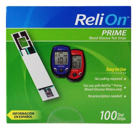 Amazon.com: ReliOn Prime Blood Glucose Test Strips (50