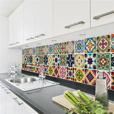 talavera tile decals tile stickers set  kitchen