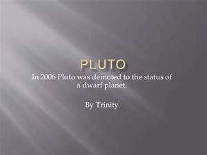 Trinity Pluto trinity