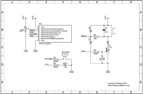 metal detectors schematics metal detector machine elsavadorla attiny13 pi metal detector łukasz podkalicki