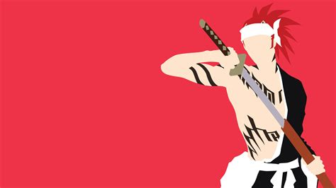 Minimalist Anime Wallpaper - abarai renji minimalistic wallpaper by matsumayu