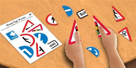 road sign puzzle road sign puzzle road sign activity ideas for classroom road