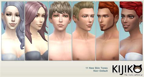 Hair Color Exles by Non Default Skin Tones And Default Tuning Kijiko