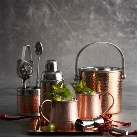 copper hammered cocktail shaker williams sonoma