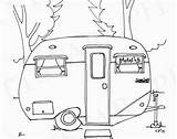 Camper Coloring Pages Rv Travel Trailers Airstream Trailer Printable Embroidery Scotty Adult Drawing Campers Etsy Patterns Serro Camping Line Pattern sketch template