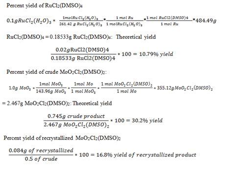 Synthesis Of Ruthenium(ii) And Molybdenum(v) Using Dimethylsulfoxide (dmso) As A Ligand Odinity