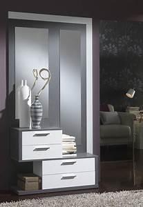 Meuble D Entrée Blanc : meuble d entree moderne amelio zd1 meu dentr ~ Teatrodelosmanantiales.com Idées de Décoration