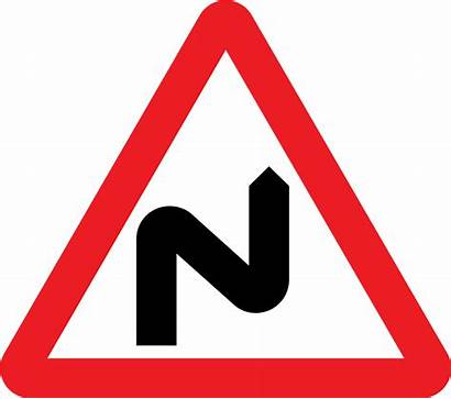 Sign Traffic Road Bend Svg Double Right