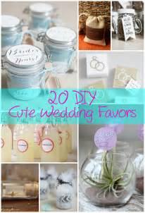 DIY Wedding Favors Crafts