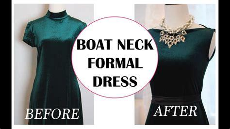 Boat Neck Dress Diy by Convert Mock Neck Dress Into A Boat Neck Dress