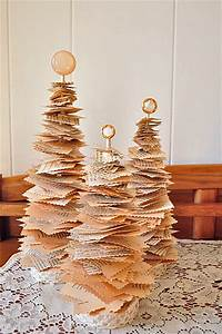feature diy tree using book pages rustic