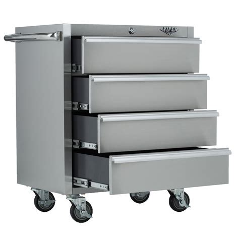 Viper Tool Storage 26 inch 4 Drawer 304 Stainless Steel