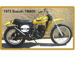 1973 Suzuki Tm 400 Motorcycle Dirt Bike Yellow