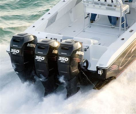 Fishing Boat Outboard Engine by Mercury Racing Goes Supercharged For 80 Mph