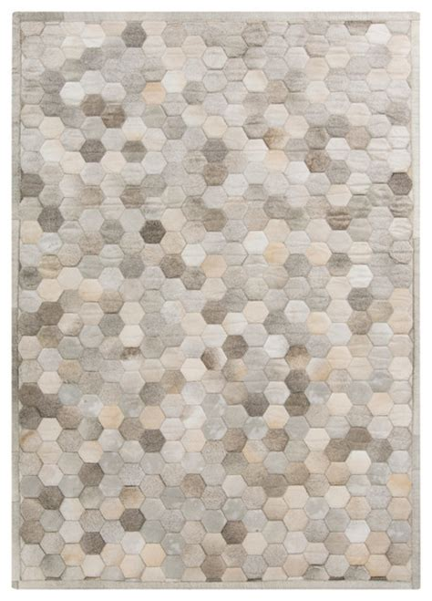 beige and grey area rugs palika global bazaar honeycomb beige gray cowhide rug
