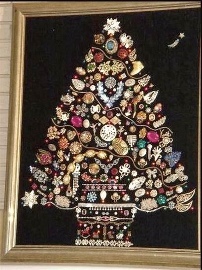 Trees Unusual Ornaments Jeweled Xmas Costume