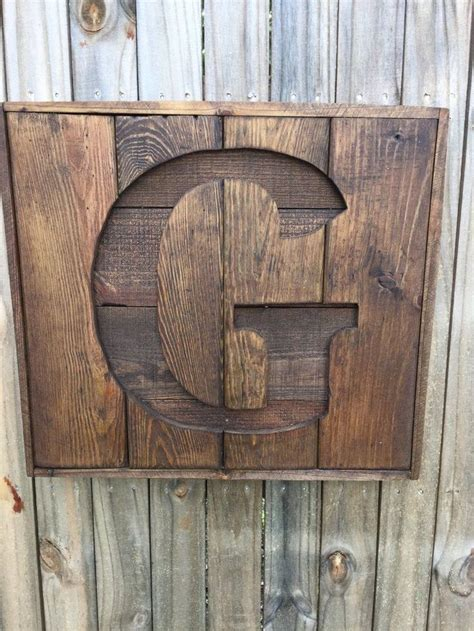 custom recycled pallet initial  sign wooden letter sign