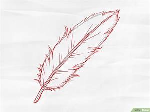 Dessin De Plume Facile : comment dessiner une plume 8 tapes wikihow ~ Melissatoandfro.com Idées de Décoration