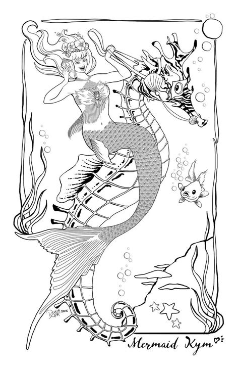 beautiful mermaid pages coloring pages