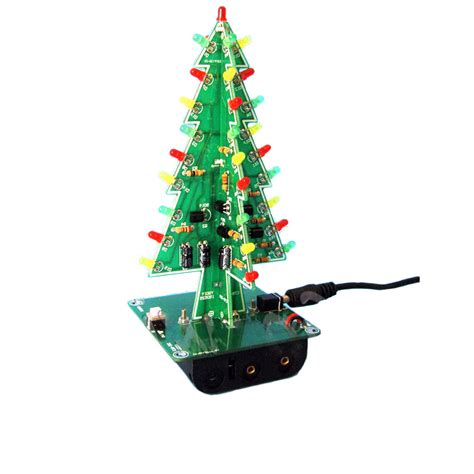 diy light christmas tree led kit professional flash green