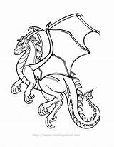 Coloring Dragon Cool Popular sketch template
