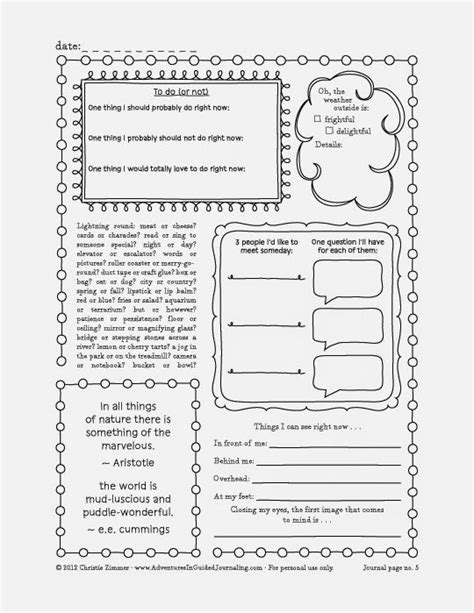 adventures  guided journaling printable journal pages