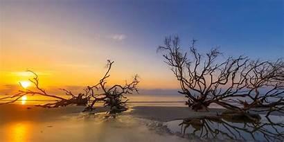 Labor Desktop Sunrise Beach Hunting Island Beaufort