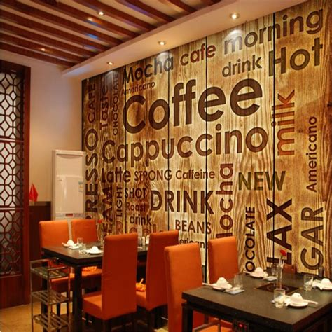 Coffee Designs Wallpapers beibehang custom nonwovens wallpaper coffee shop