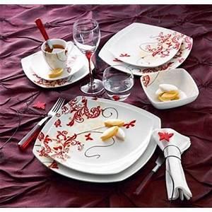 Lot De Vaisselle Pas Cher : service assiette luminarc design en image ~ Teatrodelosmanantiales.com Idées de Décoration
