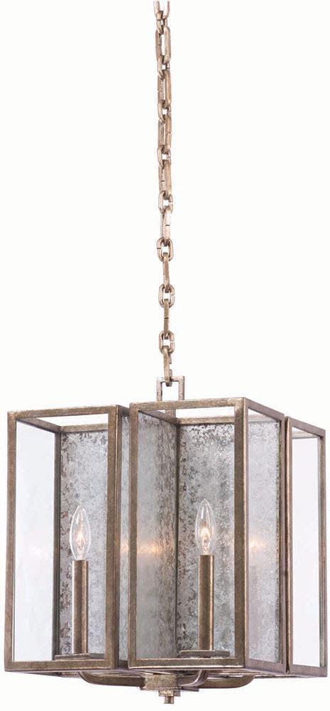 kalco 506051rsl camilla rustic silver leaf foyer lighting