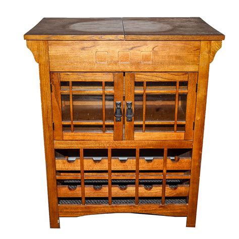 bar cabinet modern style contemporary mission style bar cabinet ebth