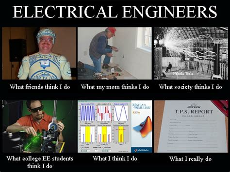 Electrical Engineer Meme - electrical engineer what i think i do vs what i do humor tech humor and science jokes