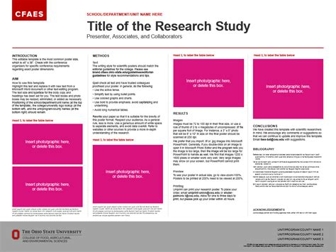 Research Poster Template Research Posters The Cfaes Brand