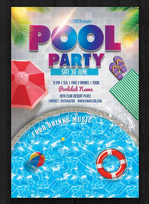 33+ Printable Pool Party Invitations PSD AI EPS Word