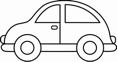 Coloring Drawing Pages Clipart Easy Dinosaur Cars