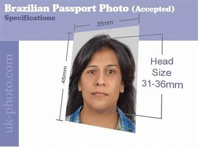 Passport Brazilian Requirements Siz Brazil Visa Measurements