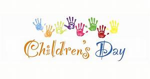 Happy Children's Day Colorful Hand Prints Picture