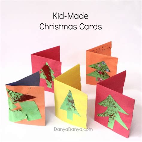 wrap print cards for preschoolers danya 670 | Kid made Christmas Cards using bubble wrap details Danya Banya